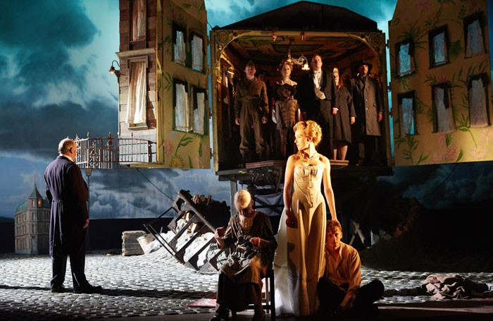 Tim Woodward,Diana Payne Myers,Katherine Jack andHamish Riddle in An Inspector Calls. Photo: Mark Douet