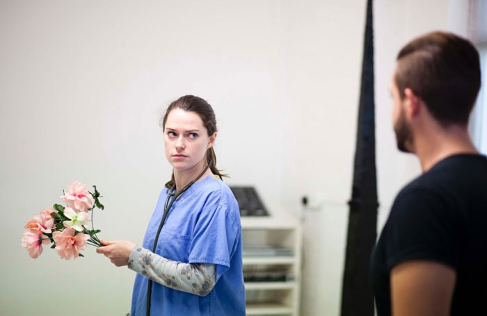 Jenny Perry and Nadeem Crowe in Accidents and Emergencies at Lost Theatre. Photo: Eivind Hansen