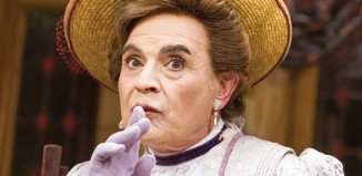 David Suchet as Lady Bracknell in The Importance of Being Earnest at the Vaudeville Theatre, London. Photo: Tristram Kenton