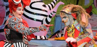 Anne-Marie Owens and Stephen Sullivan in Alice in Wonderland at Customs House, South Shields. Photo: Craig Leng