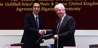 Barry Ife and Xu Xiang signed a deal through which Chinese students will be able to study drama at both schools