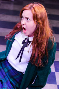 Evelyn Hoskins in Carrie The Musical. Photo: Tristram Kenton