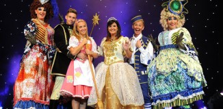 The cast of Cinderella at Rotherham Civic Theatre. Photo: John Bates