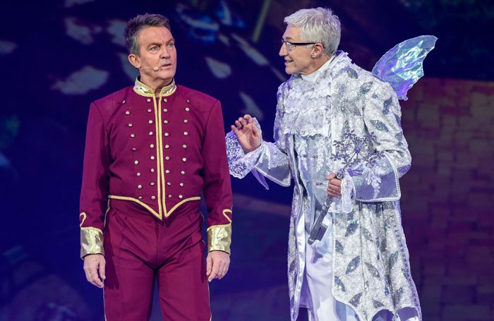 Bradley Walsh and Paul O'Grady in Cinderella at the Barclaycard Arena, Birmingham. Photo: James Watkins Photography