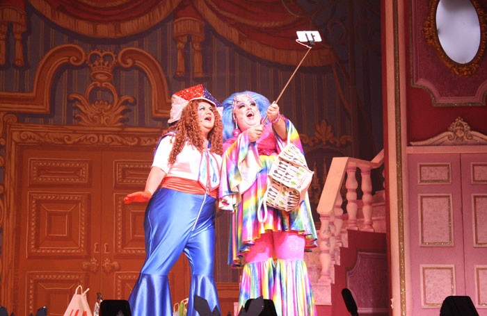 Phil Randall and Jack Edwards in Cinderella at the Kings Theatre, Portsmouth