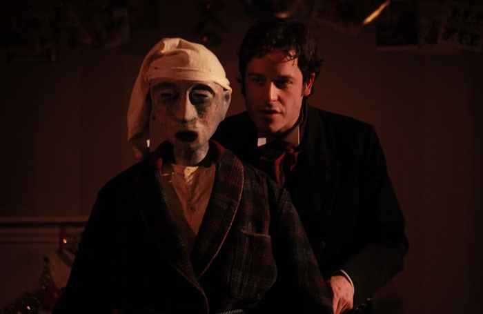 Dominic Gerrard in A Christmas Carol at the Charles Dickens Museum. Photo: Faye Thomas
