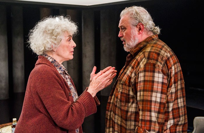 Eleanor Bron and Russell Floyd in Forget Me Not at the Bush Theatre, London. Photo: Tristram Kenton