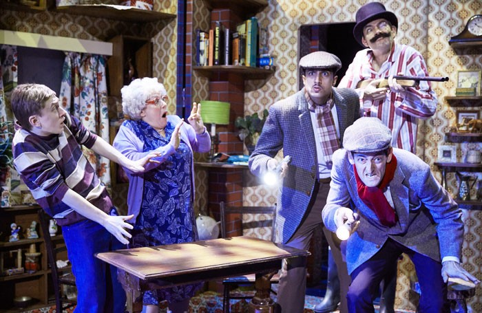 The cast of Gangsta Granny at New Alexandra Theatre, Birmingham. Photo: Mark Douet