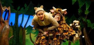 Ellie Bell and Owen Guerin in The Gruffalo at the Vaudeville Theatre, London. Photo: Tall Stories