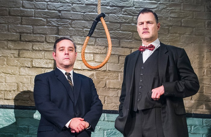 Andy Nyman and David Morrissey in Hangmen at Wyndhams Theatre. Photo: Tristram Kenton