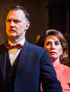 David Morrissey and Sally Rogers  in Hangmen. Photo: Tristram Kenton