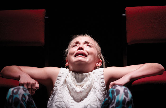 Sophie Melville in Iphigenia in Splott at Sherman Cymru. Photo:  Mark Douet