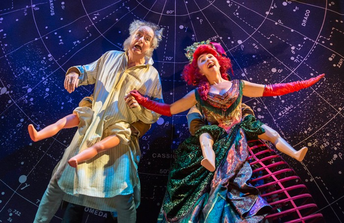Jim Broadbent and Samantha Spiro in A Christmas Carol. Photo: Johan Persson