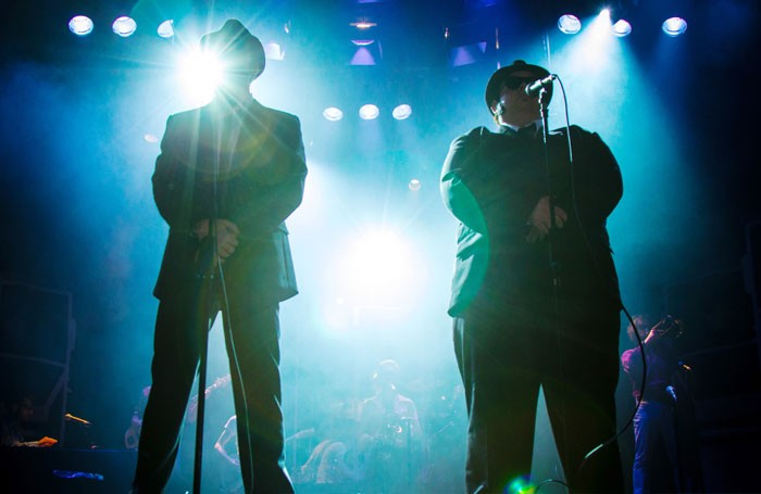 Joshua Mumby and David Kristopher Brown in The Blues Brothers: Xmas Special. Photo: Piers Foley
