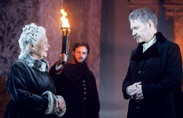 Judi Dench and Kenneth Branagh in The Winter's Tale at the Garrick Theatre, London. Photo: Johan Persson