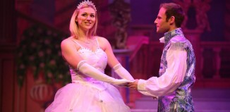 Hazel Pude and James Hedley in Cinderella at Gala Theatre, Durham.