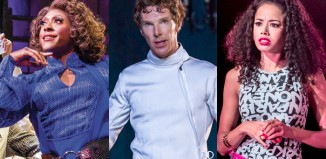Matt Henry and Benedict Cumberbatch received best actor nods, while In the Heights (starring Jade Ewen) was nominated in nine WhatsOnStage Awards categories. Photos: Helen Maybanks/Johan Persson