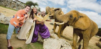 Cast members from Aladdin at the Civic Theatre, Chelmsford