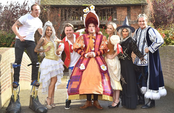 The cast of Jack and the Beanstalk at York's Grand Opera House