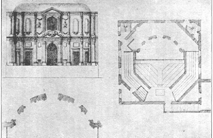 Plans for Inigo-Jones' Cockpit Theatre, which would be used to create the new Playhouse in Prescot. Photo: Wikipedia