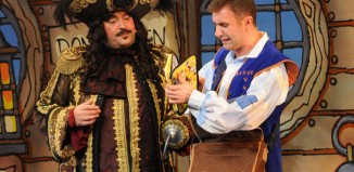 Christian Patterson and Jonathan Wilkes in Peter Pan at Milton Keynes Theatre. Photo: Richard Johnson