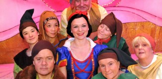 Cast of Snow White at the Princess Theatre, Torquay. Photo: Paul Levie