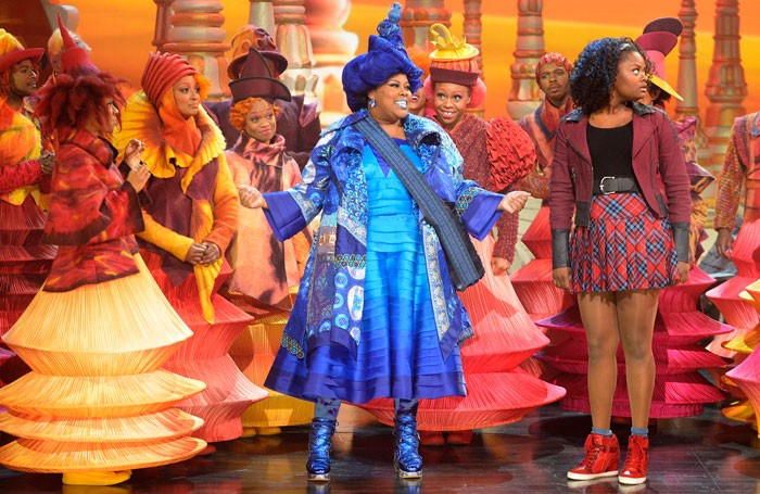 Amber Riley, Shanice Williams and company in The Wiz. Photo: Virginia Sherwood
