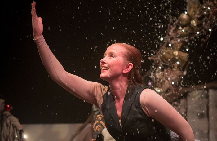 Nina Atkinson in The Timid Hedgehog and the Forgotten Christmas Forest at the Brook Theatre, Chatham. Photo: Jeanie Jean