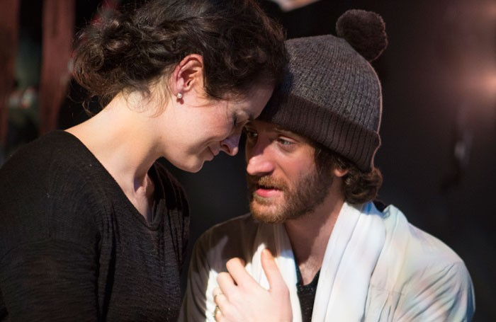 Nichole Bird and Ben Woods in A Christmas Carol ... More or Less at the Bridge House Theatre, London. Photo: Anton Hewins