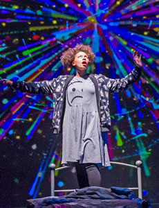 Lois Chimimba in Wonder.land at the National Theatre. Photo