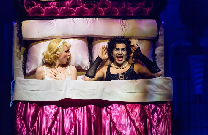 Diana Vickers and Liam Tamne in The Rocky Horror Show at Theatre Royal, Brighton. Photo: David Freeman