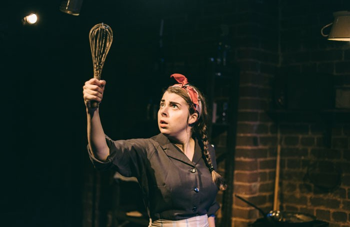 Jesse Meadows in Eloise and the Curse of the Golden Whisk at the Bike Shed Theatre, Exeter. Photo: Maria Dragan