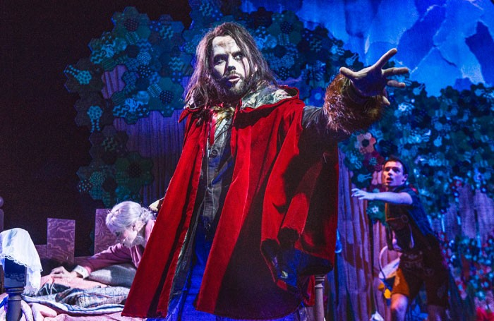 Matthew Barrow in Red Riding Hood at the Pleasance Theatre, London. Photo: Garry Lake