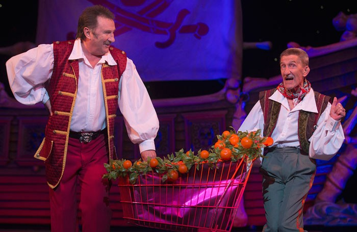 The Chuckle Brothers in Peter Pan at Wolverhampton's Grand Theatre