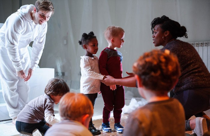 Part of Battersea Arts Centre's Town Hall Cherubs, an immersive show for 2 to 5-year-olds. Photo: Alex Brenner