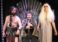 Mark Davison, Ali Brice and Libby Northedge in Graeme of Thrones at Leicester Square Theatre. Photo: Marilyn Kingwill