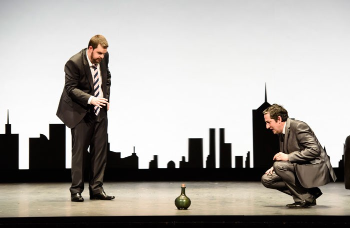 Ben McAteer and-Nicholas Sharratt in The Devil Inside at Theatre Royal Glasgow Photo: Bill Cooper