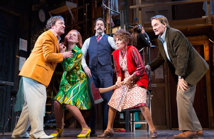 The cast of Roundabout Theatre Company's Noises Off at American Airlines Theatre, New York Photo: Joan Marcus