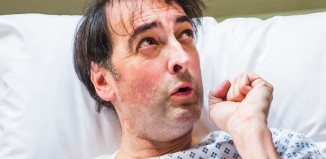 Alistair McGowan in 4000 Days at the Park Theatre. Photo: Tristram Kenton