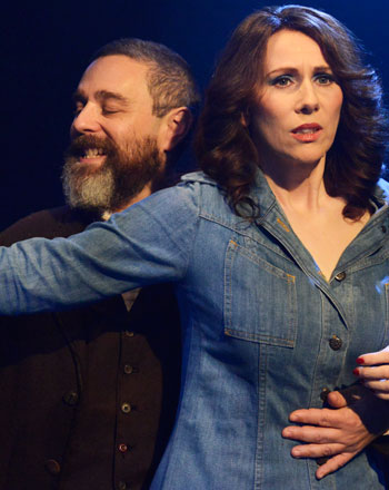 Nyman with Catherine Tate in Assassins. Photo: Nobby Clark