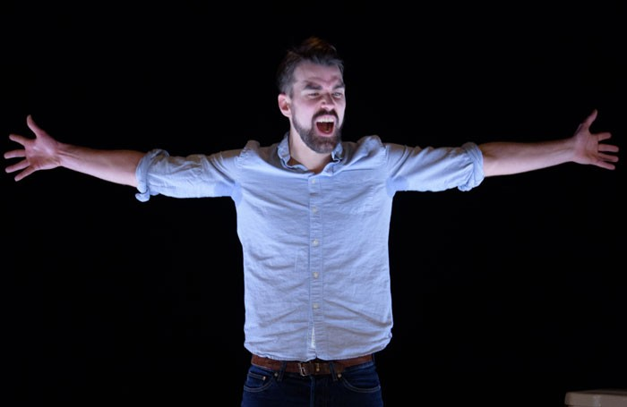 Ben Whybrow in This Will End Badly at Southwark Playhouse. Photo: Ben Broomfield