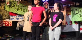 The cast of E15 at Camden People's Theatre, London Photo: Fysa Theatre