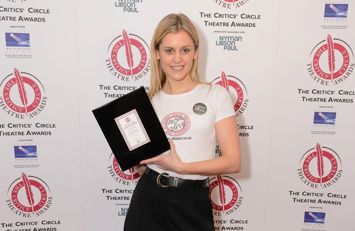 Denise Gough at the Critics' Circle Theatre Awards. Photo: Stephen Pover