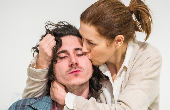 William Postlewaithe and Gina McKee in The Mother at the Tricycle Theatre. Photo: Tristram Kenton