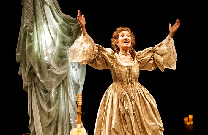 Elizabeth Mansfield as Nell Gwyn at the Park Theatre, London Photo: Anthony Robling