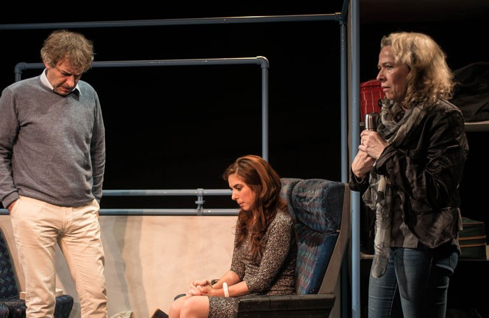 Martin Ball, Emma Kelly and Louise Bangay in One of Those at Tristan Bates Theatre, London