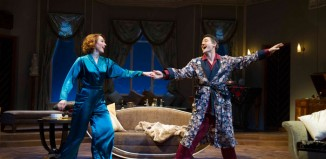 Laura Rogers and Tom Chambers in Ambassador Theatre Group's touring production of Private Lives. Photo: Alastair Muir