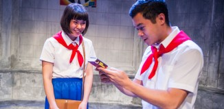 Anna Leong Brophy and Chris Lew Kum Hoi in P'yongyang at the Finborough Theatre. Photo: Tristram Kenton