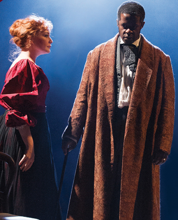Charlotte Lucas and Adrian Lester in Red Velvet . Photo: Tristram Kenton