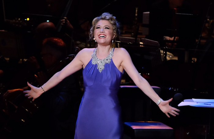 Scarlett Strallen performs with the BBC Concert Orchestra at The Oliviers in Concert at the Royal Festival Hall. Photo: BBC/Mark Allan